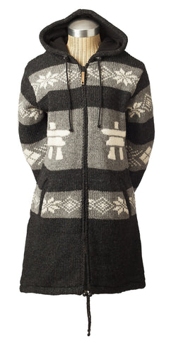 Ladies Inukshuk Long Cardigan