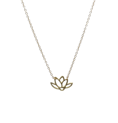 Lotus Necklace- Gold-Daylyn