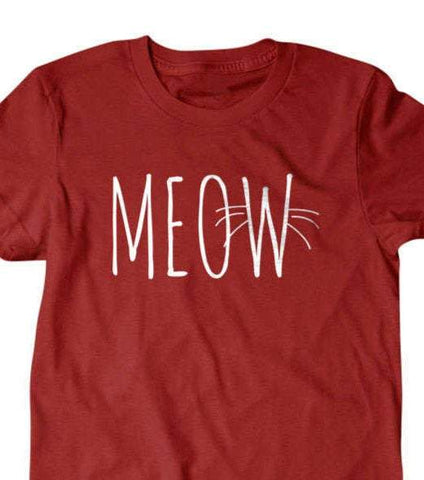 Meow T-shirt, Cat lover t shirt-Daylyn