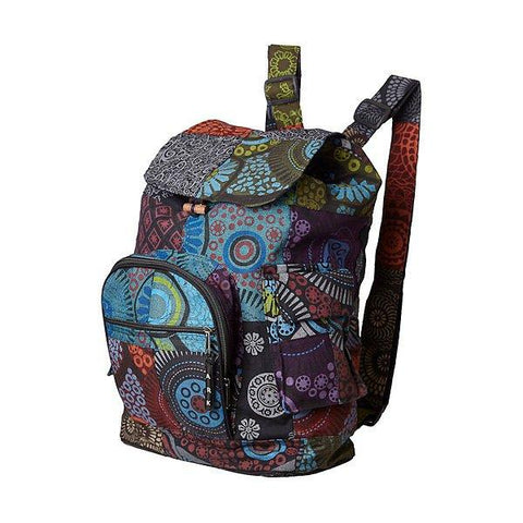 Patchwork knapsack, Backpack, Hippie Bag-Daylyn