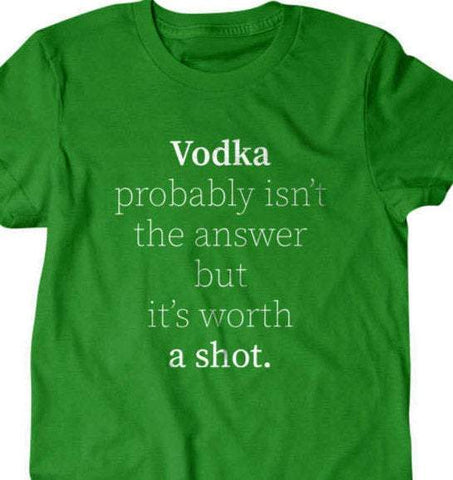 Vodka probably isnt the answer but its worth a shot-Daylyn