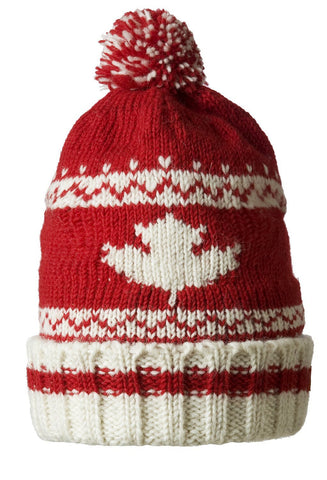White Maple Pom-pom Hat