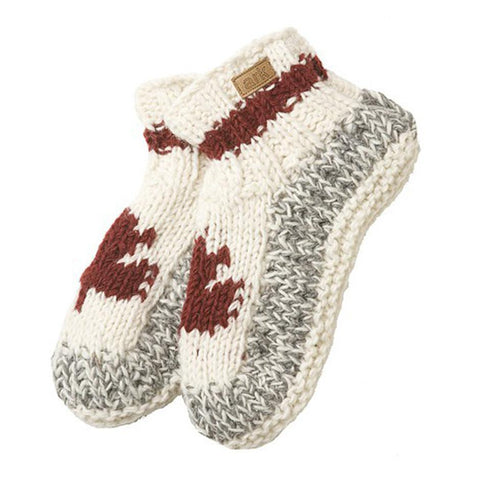 Wool and Fleece Booties - Maple Cabin-Daylyn