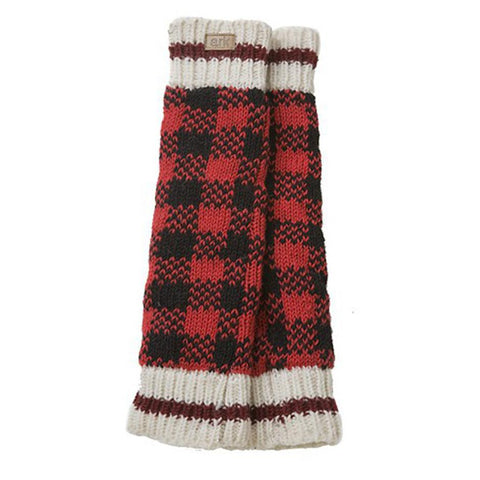 Wool Leg Warmers Checker-Daylyn