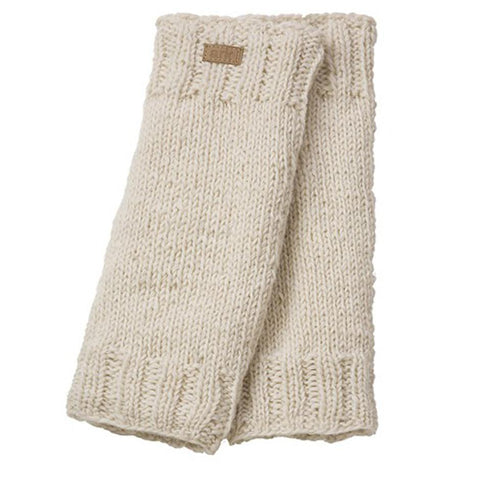 Wool Leg Warmers White-Daylyn