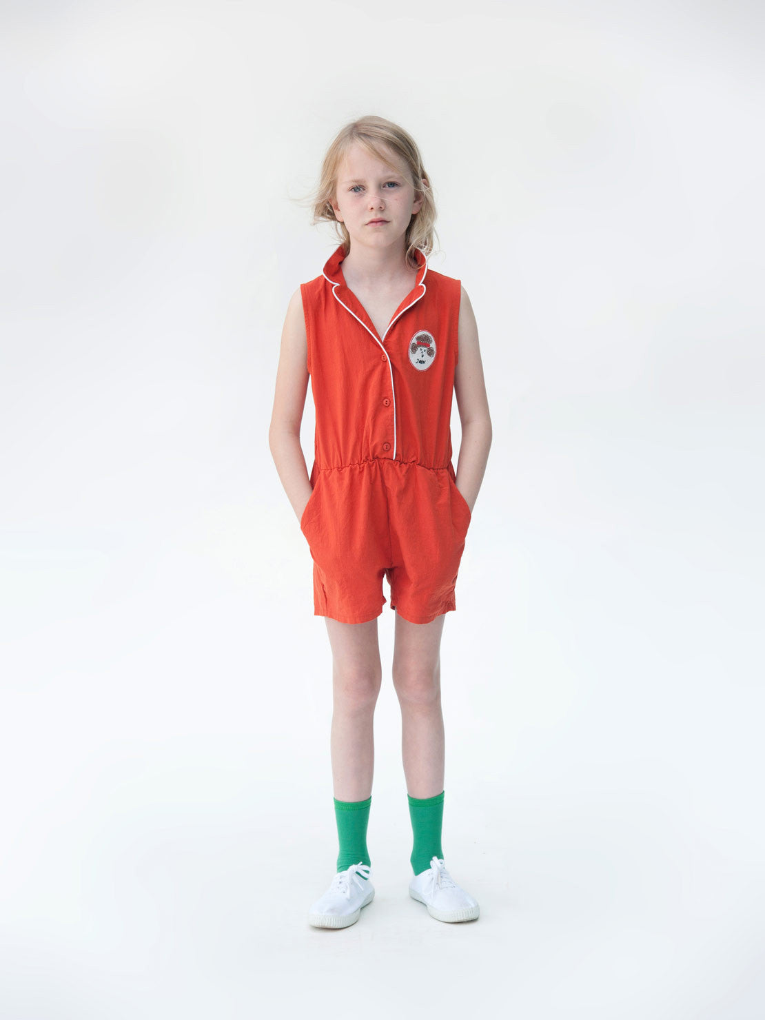 Bobo Choses Tailor neck Rompers Pipping