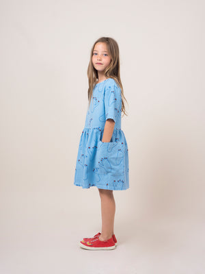 Bobo Choses Footprint Pockets Dress