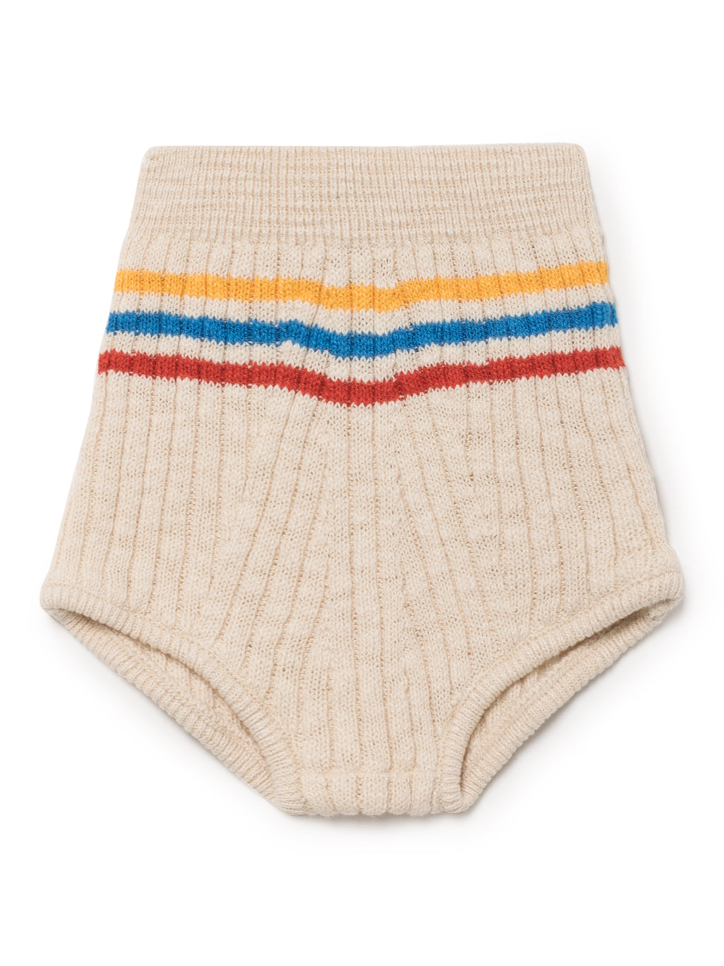 Bobo Choses White Knitted Bloomer shorts