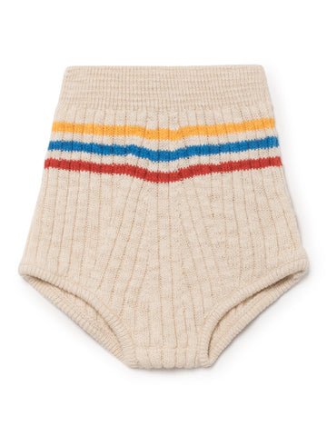Bobo Choses White Knitted Culotte Bloomer