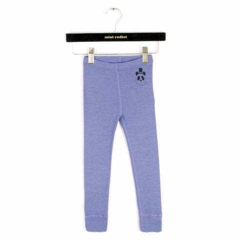 MINI RODINI Panda Wool Leggings - Blue