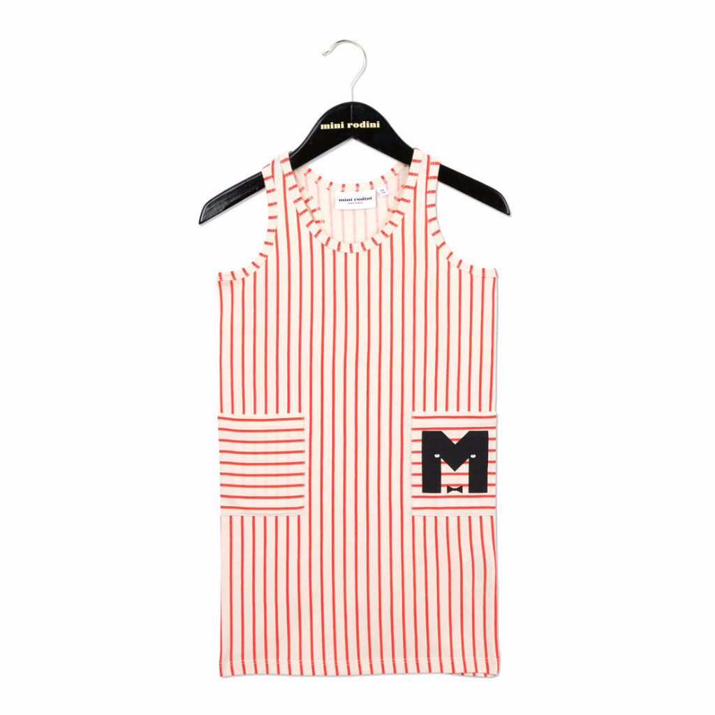 MINI RODINI STRIPE TANK DRESS Red