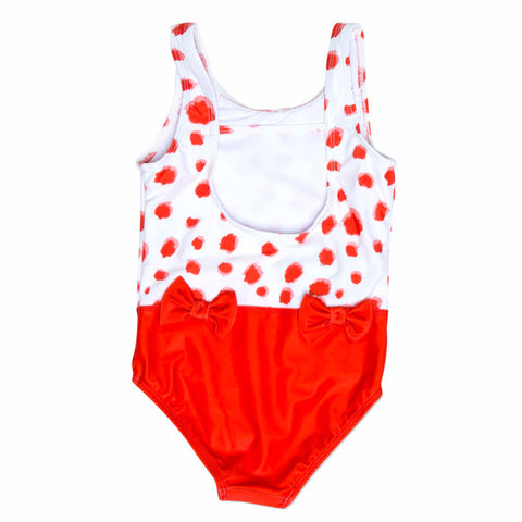 MINI RODINI Taches Bow AOP Swimsuit - Red