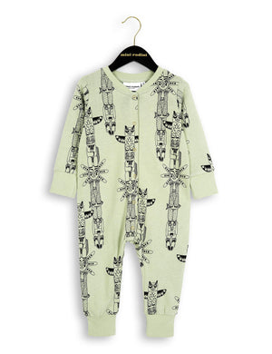 MINI RODINI TOTEM ONESIE Green