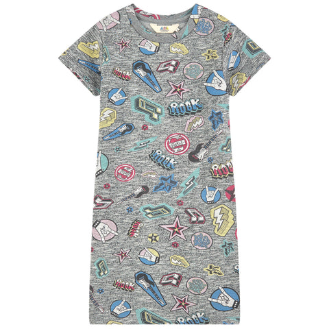 Little Eleven Paris - Grey Cartoon Dress