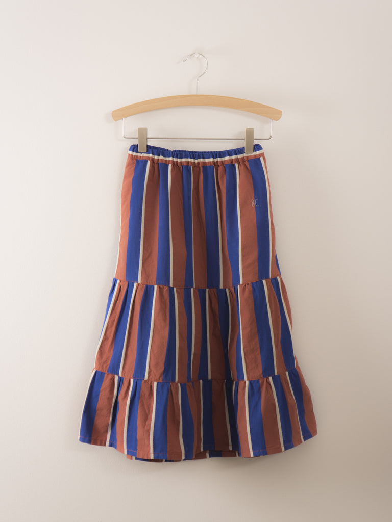 Bobo Choses Awning stripes Long Skirt