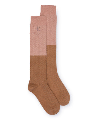 Bobo Choses - Gold and Pink Long Socks