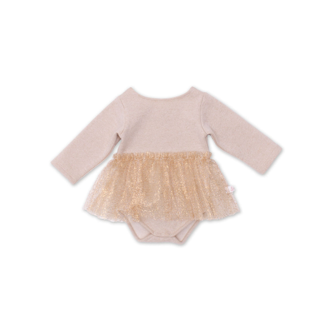Noe & Zoe - Baby Dress with gold tutu