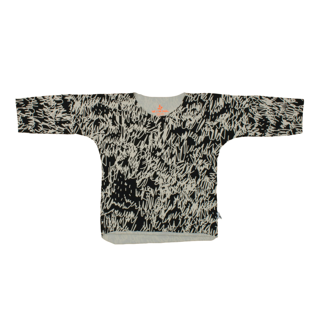 Noé & Zoë Baby Long Sleeve Tee - Black Scribble