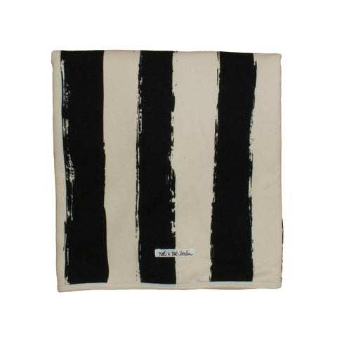 Noé & Zoë Blanket - Black Stripes XL
