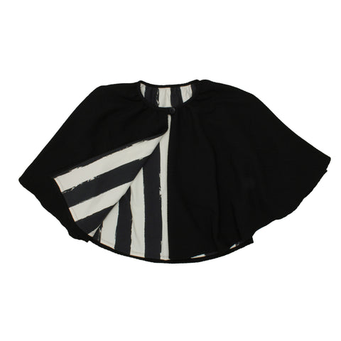Noé & Zoë Stripe Cape - Black REVERSIBLE