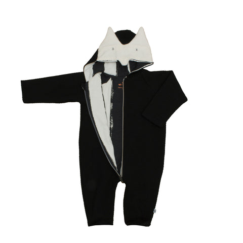 Noé & Zoë Baby Jumpsuit - Black Fox