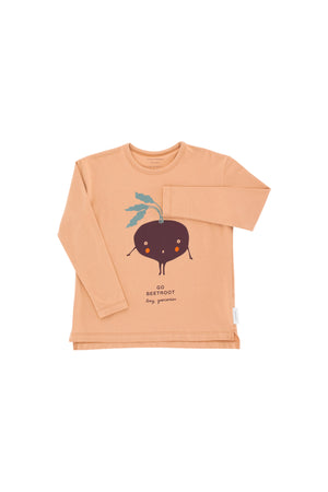 Tiny Cottons - go beetroot graphic tee