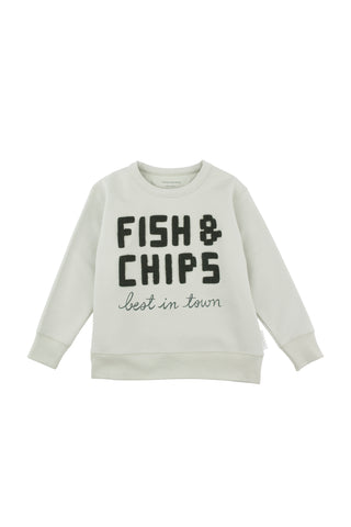 Tiny Cottons - fish & chips graphic sweatshirt