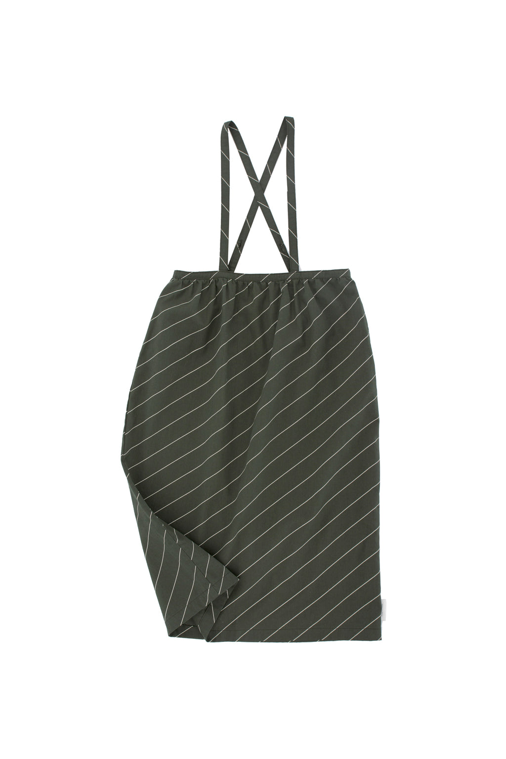 Tiny Cottons - diagonal stripes wv braces long skirt