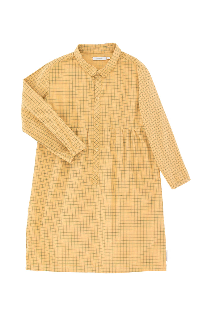 Tiny Cottons - grid ls dress