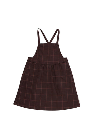 Tiny Cottons - grid flannel sl dress