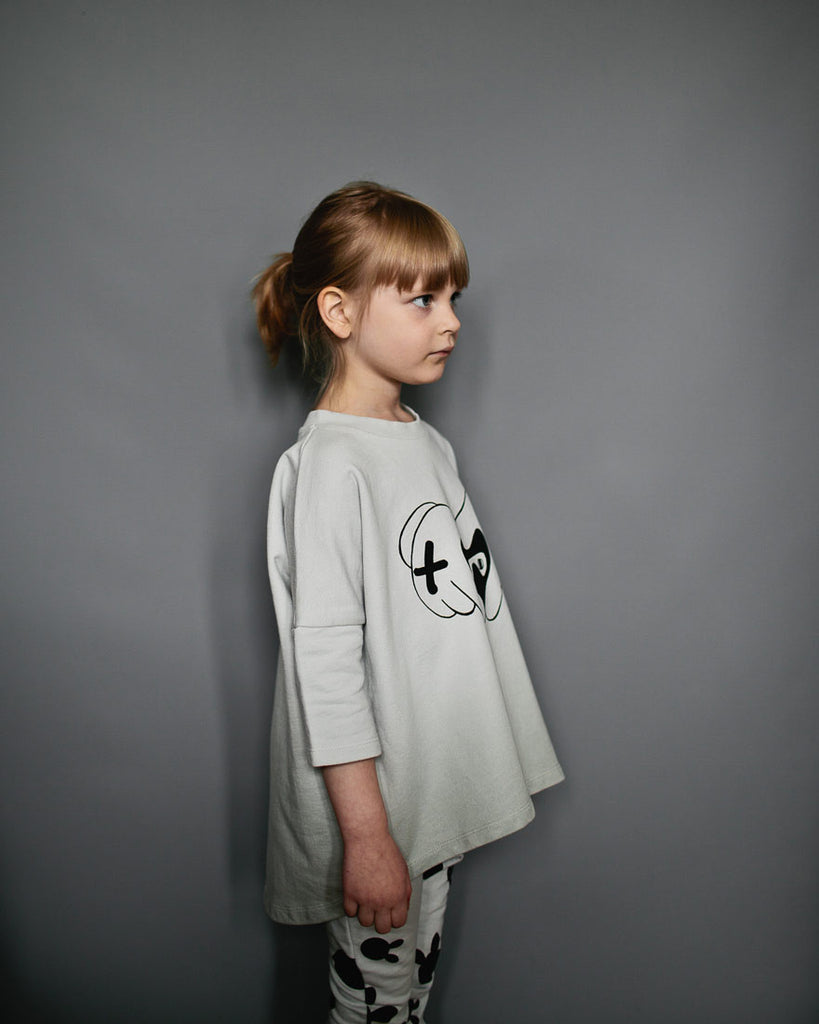 Beau Loves - Oversized Top Dove Grey Ombre