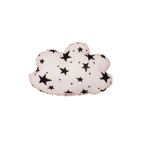 Noé & Zoë Small Cloud Cushion - Black Stars