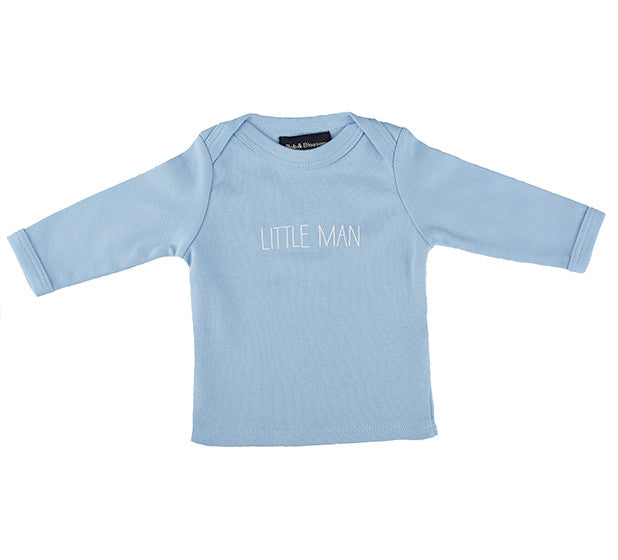 Bob & Blossom - Sky Blue 'Little Man' Baby T Shirt
