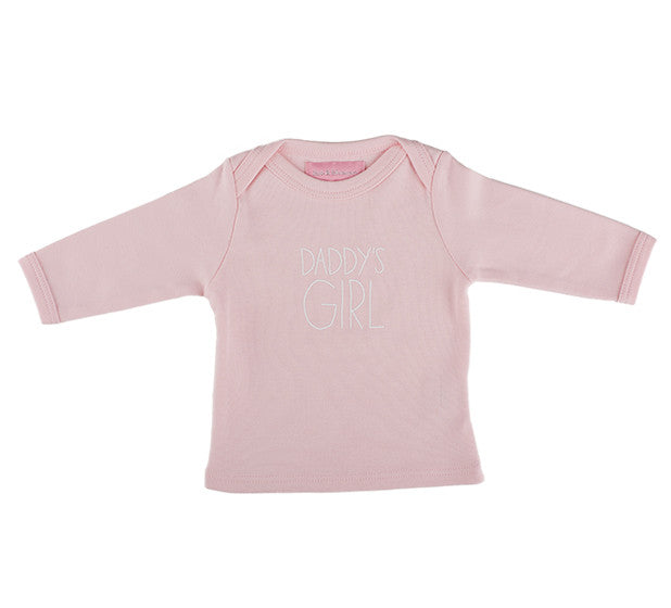 Bob & Blossom - Pale Pink 'Daddy's Girl' Baby T Shirt