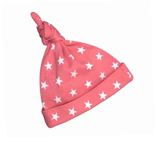Bob & Blossom - Flamingo Pink & White Star Hat