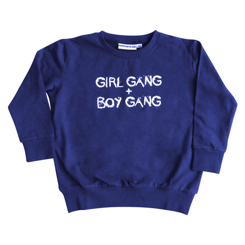 GARDNER AND THE GANG - LIGHT SWEATER - GIRL GANG + BOYGANG - Blue