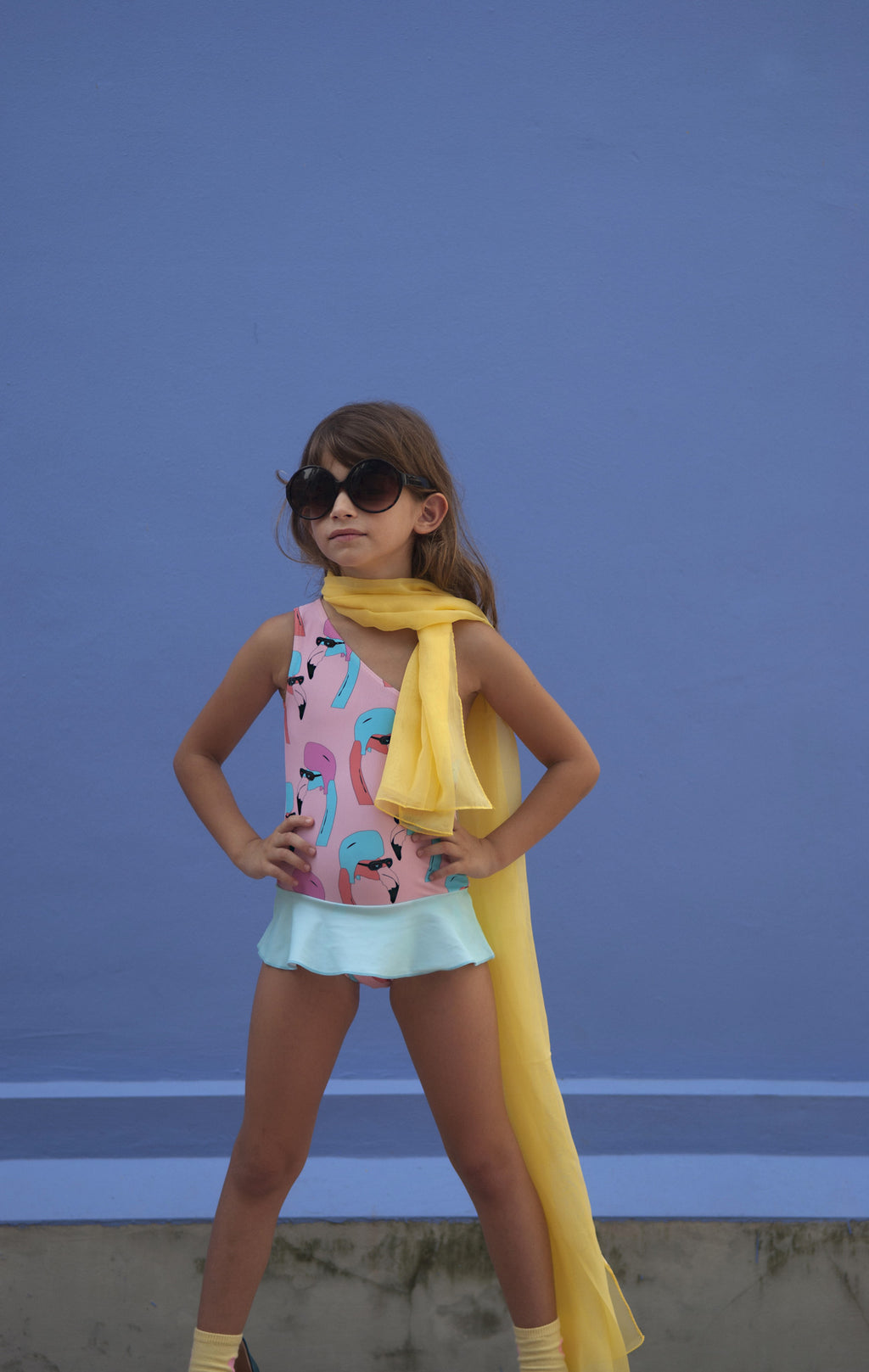 Gardner and the Gang - Pretty Swimsuit 'Helmut Flamingo' All over Print