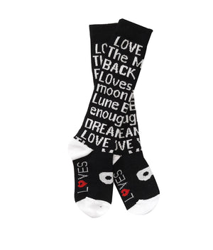 Beau Loves - Knit Knee High Socks Black