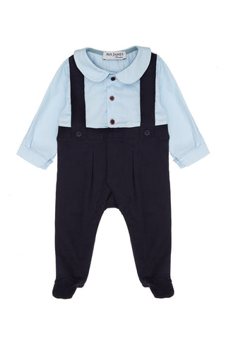 Ava James London - George Romper Navy