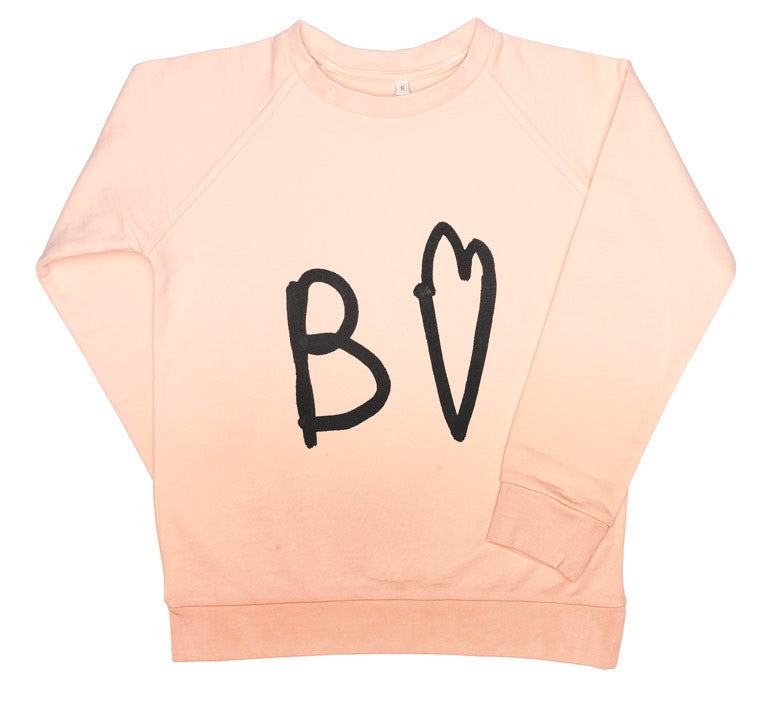 Beau Loves - Raglan Jumper Pale Blush Ombre