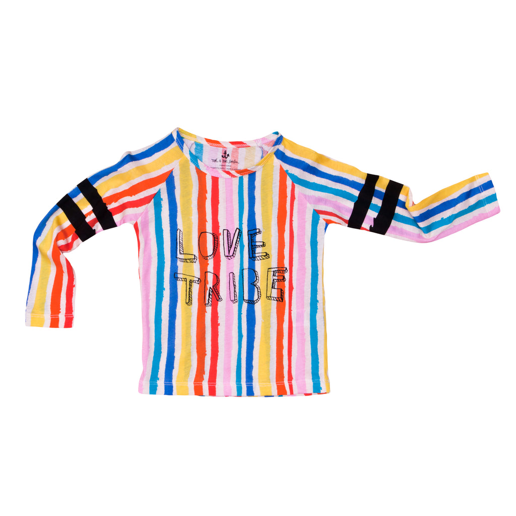 Noé & Zoë - Raglan Rainbow Long Sleeve Tee