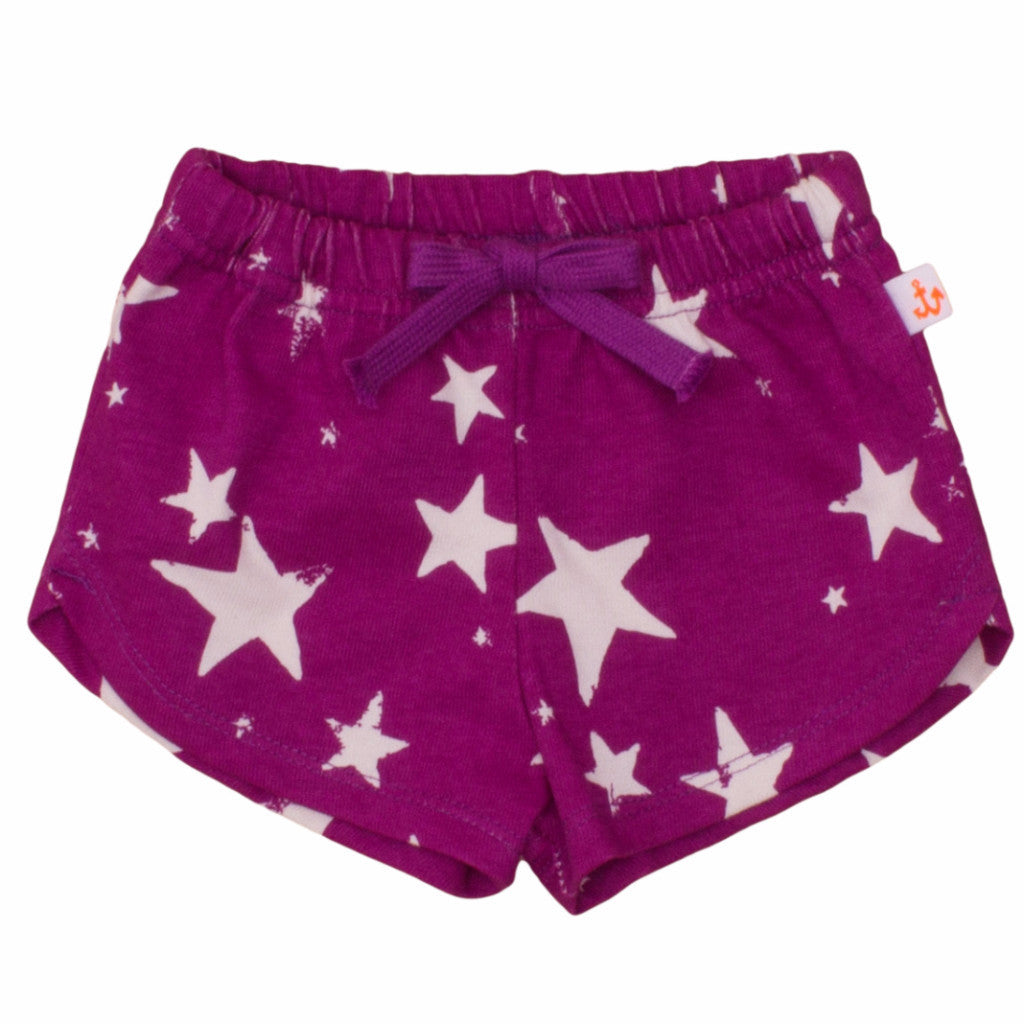 Noé & Zoë Kids Shortie - Purple Inverse Stars