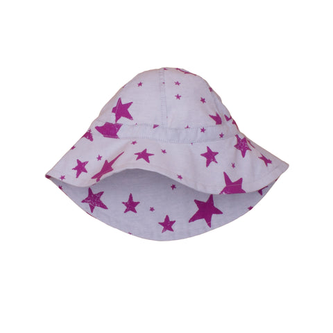 Noé & Zoë Baby Summer Hat - Purple Stars