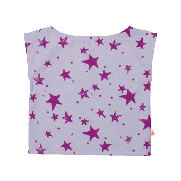 Noé & Zoë Girls Top - Purple Stars