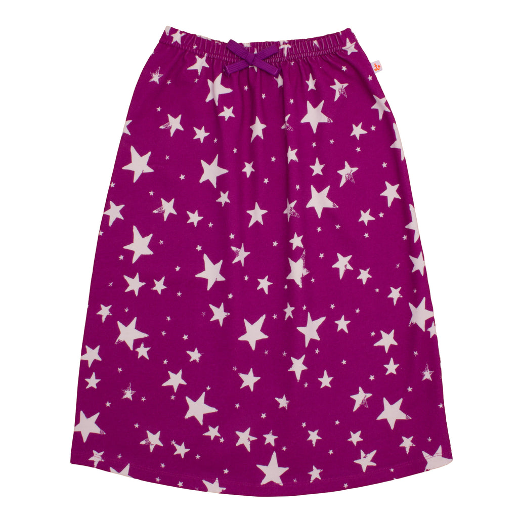 Noé & Zoë Long Skirt - Purple Inverse Stars