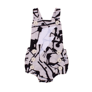 Noé & Zoë Baby Sailor Romper - Black Ink