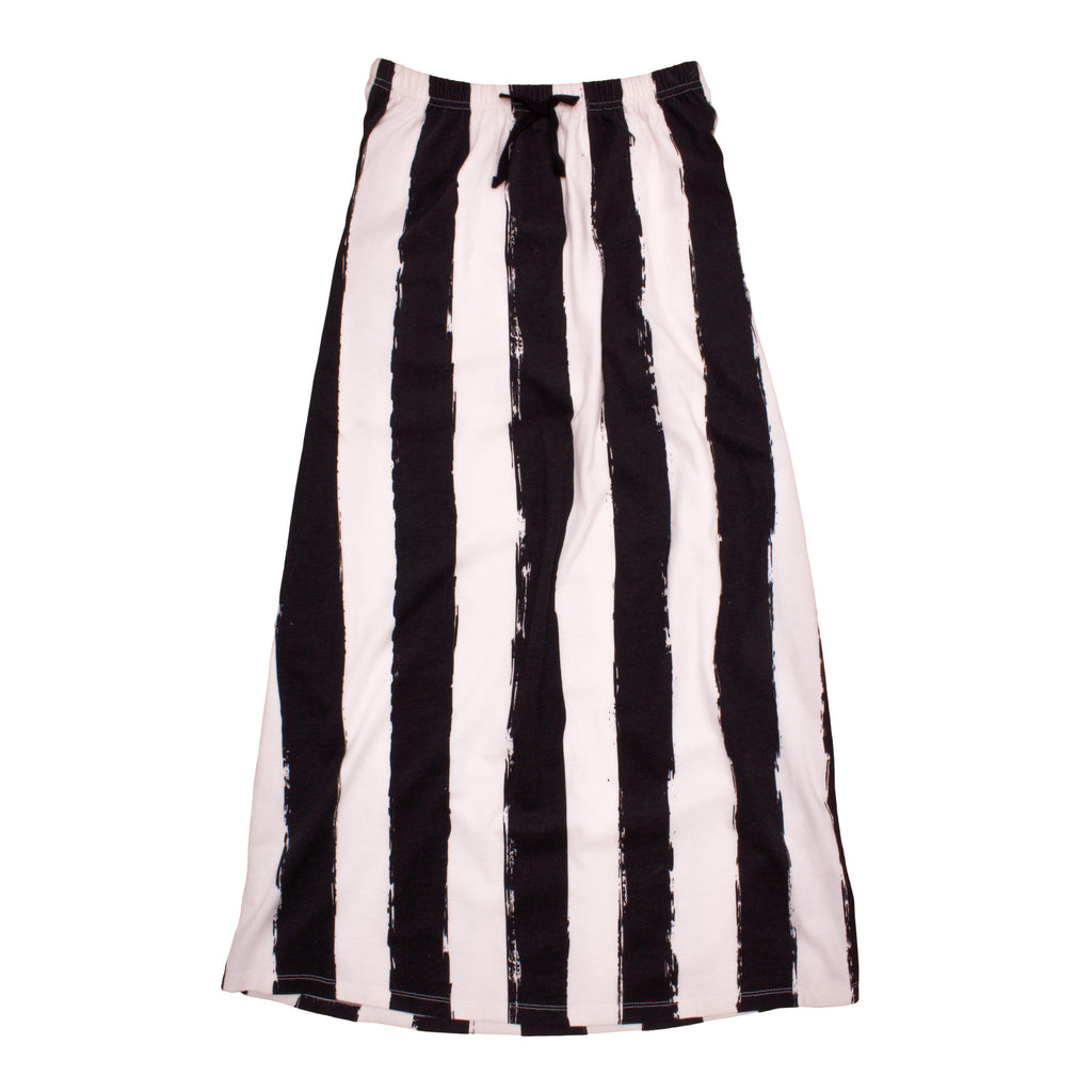 Noé & Zoë Long Skirt - Black Stripes XL