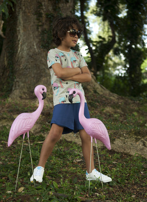 Gardner and the Gang - The Cool Tee 'Helmut Flamingo' All over print