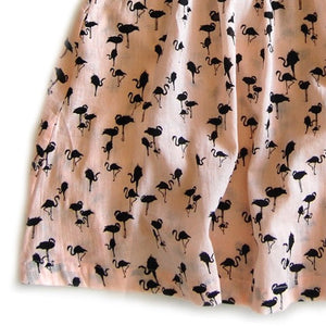 Lulaland - Kate Dress - Flamingos Gauze