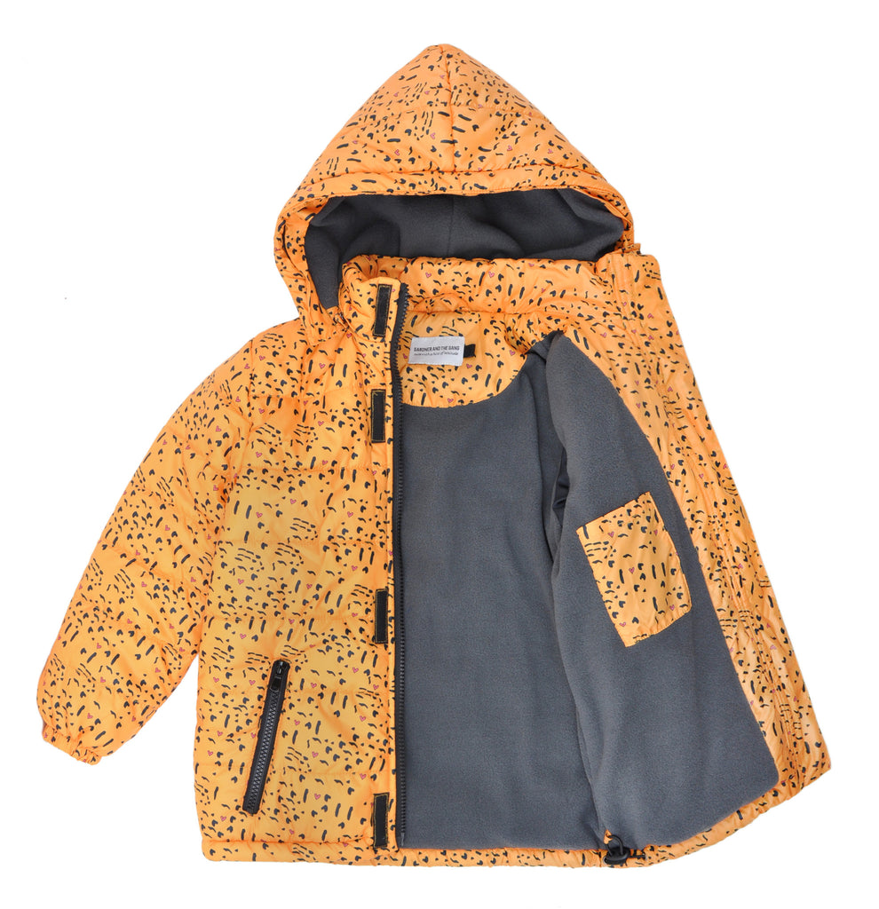 GARDNER AND THE GANG WINTER JACKET - LOVE FUR - YELLOW